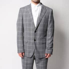 コムサイズム COMME CA ISM すっきりとした細身シルエットのスーツジャケット (グレー)