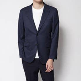 コムサイズム COMME CA ISM すっきりとした細身シルエットのスーツジャケット (ネイビー)