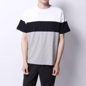コムサイズム COMME CA ISM カラーブロックTシャツ (ホワイト)