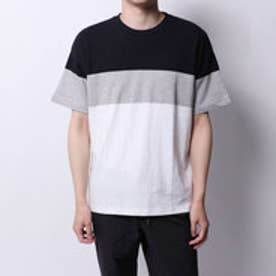 コムサイズム COMME CA ISM カラーブロックTシャツ (ネイビー)