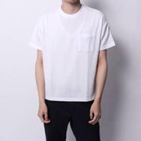 コムサイズム COMME CA ISM サッカーTシャツ (ホワイト)