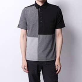 コムサイズム COMME CA ISM 吸水速乾 ブロッキングポロシャツ (ブラック)