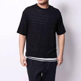 コムサイズム COMME CA ISM Tシャツセットプルオーバー (ネイビー)