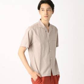 コムサイズム COMME CA ISM コットンレーヨンオープンカラーシャツ (ベージュ)