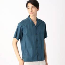 コムサイズム COMME CA ISM コットンレーヨンオープンカラーシャツ (ブルー)