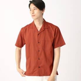 コムサイズム COMME CA ISM コットンレーヨンオープンカラーシャツ (レンガ)