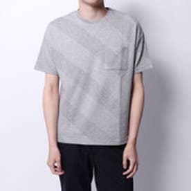 コムサイズム COMME CA ISM ジャカードTシャツ (グレー)
