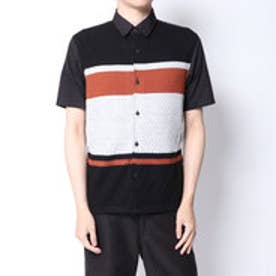コムサイズム COMME CA ISM ニットコンビシャツ (ブラック)