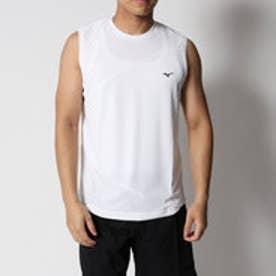 コムサイズム COMME CA ISM MIZUNO コラボ 切替 ノースリーブ Tシャツ (ホワイト)