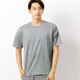 コムサイズム COMME CA ISM フェイク スエード Tシャツ (グレー)