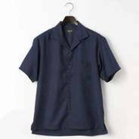 コムサイズム COMME CA ISM オータム カラー オープンカラー シャツ (ネイビー)
