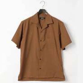 コムサイズム COMME CA ISM オータム カラー オープンカラー シャツ (ブラウン)