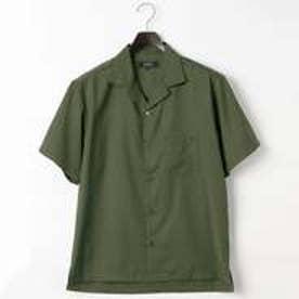 コムサイズム COMME CA ISM オータム カラー オープンカラー シャツ (カーキ)