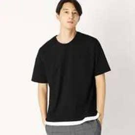 コムサイズム COMME CA ISM ビッグTシャツ (ブラック)