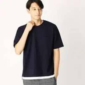 コムサイズム COMME CA ISM ビッグTシャツ (ネイビー)