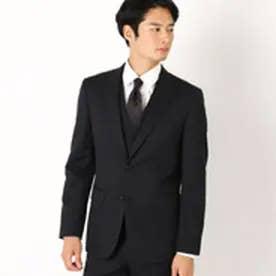 コムサイズム COMME CA ISM 《セットアップ》ウールギャバ スーツジャケット (ブラック)