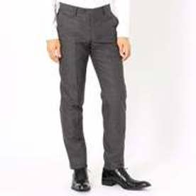 コムサイズム COMME CA ISM 《セットアップ》ブライトステッチストライプ スーツパンツ (グレー)