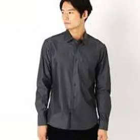 コムサイズム COMME CA ISM シャンブレーシャツ(チビ襟) (ブラック)