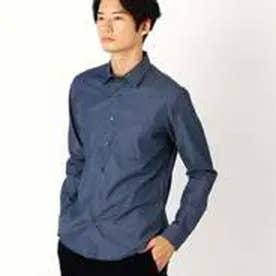 コムサイズム COMME CA ISM シャンブレーシャツ(チビ襟) (ネイビー)