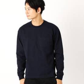 コムサイズム COMME CA ISM ドロップショルダー ベーシック Tシャツ (ネイビー)