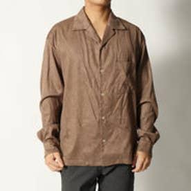 コムサイズム COMME CA ISM フェイクスウェード オープンカラーシャツ (ベージュ)