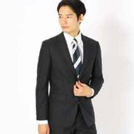 コムサイズム COMME CA ISM 《セットアップ》コーデュラナイロン ミルドストライプ スーツジャケット (チャコール)