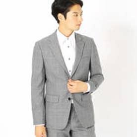 コムサイズム COMME CA ISM 《セットアップ》コーデュラナイロン ミルドウィンドウペン スーツジャケット (ライトグレー)
