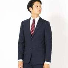 コムサイズム COMME CA ISM 《セットアップ》グレンチェック スーツジャケット (ネイビー)