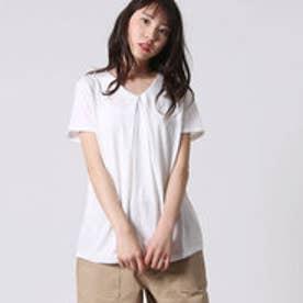 コムサイズム COMME CA ISM フロントタックTシャツ (ホワイト)