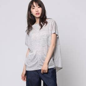 コムサイズム COMME CA ISM リネンTシャツ (グレー)