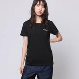 コムサイズム COMME CA ISM ロゴプリントTシャツ (ブラック)