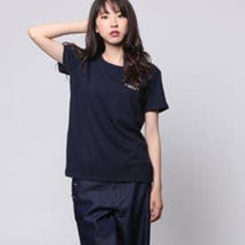 コムサイズム COMME CA ISM ロゴプリントTシャツ (ネイビー)