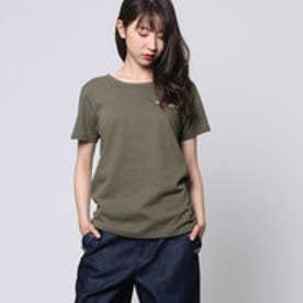 コムサイズム COMME CA ISM ロゴプリントTシャツ (カーキ)