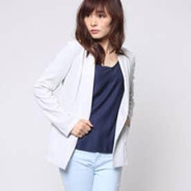 コムサイズム COMME CA ISM 羽織り感覚のジャージージャケット (ライトグレー)
