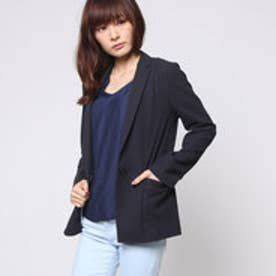 コムサイズム COMME CA ISM 羽織り感覚のジャージージャケット (ネイビー)