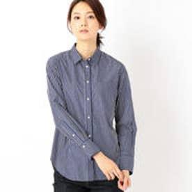 コムサイズム COMME CA ISM ストライプシャツ (ネイビー)