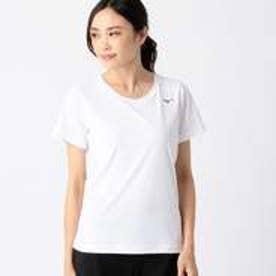 コムサイズム COMME CA ISM 〔ミズノ コラボ商品〕ソーラーカット ウェーブメッシュ素材 クーリングTシャツ (ホワイト)