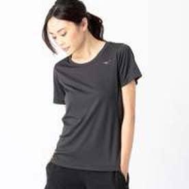 コムサイズム COMME CA ISM 〔ミズノ コラボ商品〕ソーラーカット ウェーブメッシュ素材 クーリングTシャツ (ブラック)