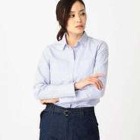 コムサイズム COMME CA ISM ストライプ柄 ベーシックシャツ (サックス)