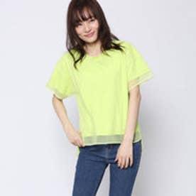 コムサイズム COMME CA ISM メッシュTシャツ (イエロー)
