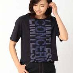 コムサイズム COMME CA ISM インパクトプリント Tシャツ (ネイビー)
