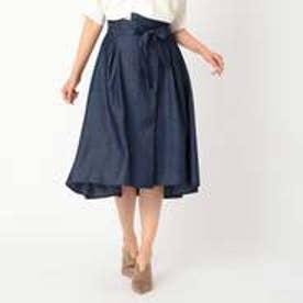コムサイズム COMME CA ISM デニムフィッシュテール スカート (ネイビー)