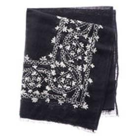 コムサイズム COMME CA ISM オリエンタル柄 刺繍インドストール (ネイビー)