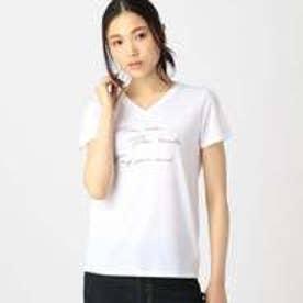 コムサイズム COMME CA ISM ロゴプリント Tシャツ (ホワイト)