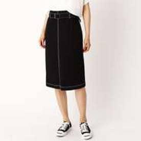 コムサイズム COMME CA ISM デニムスカート (ブラック)