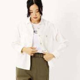 コムサイズム COMME CA ISM 〔ONIGIRI〕 デニム見え スッキパー ネルシャツ (ホワイト)