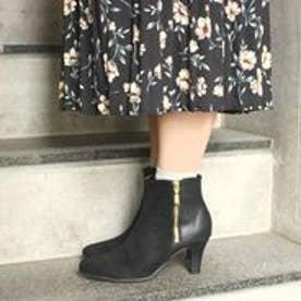 フィン Fin 【低反発スポンジ入り】サイドジップデザインブーツ(ブラック)