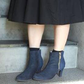 フィン Fin 【低反発スポンジ入り】サイドジップデザインブーツ(ネイビー)