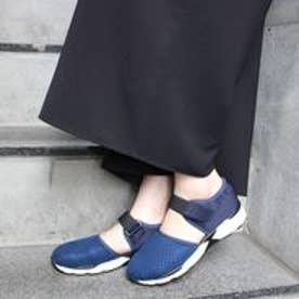 フィン Fin 【低反発スポンジ入り】メッシュスニーカー (ネイビー)
