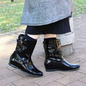 フィン Fin 【レイン対応】ベルトショートブーツ (ブラック)